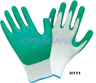 N111 Nitrile coated gloves smooth finished